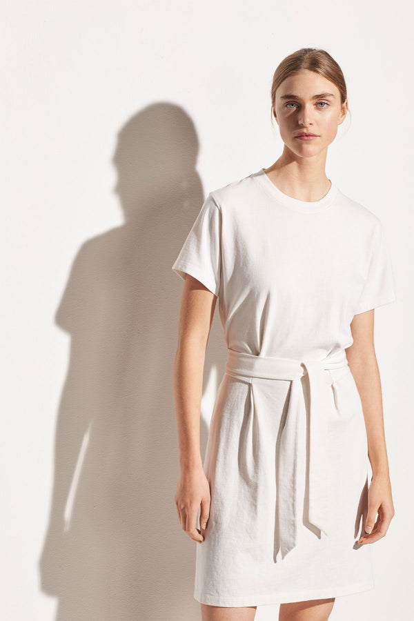 PRE-ORDERS - Waist Tie Dress Off White