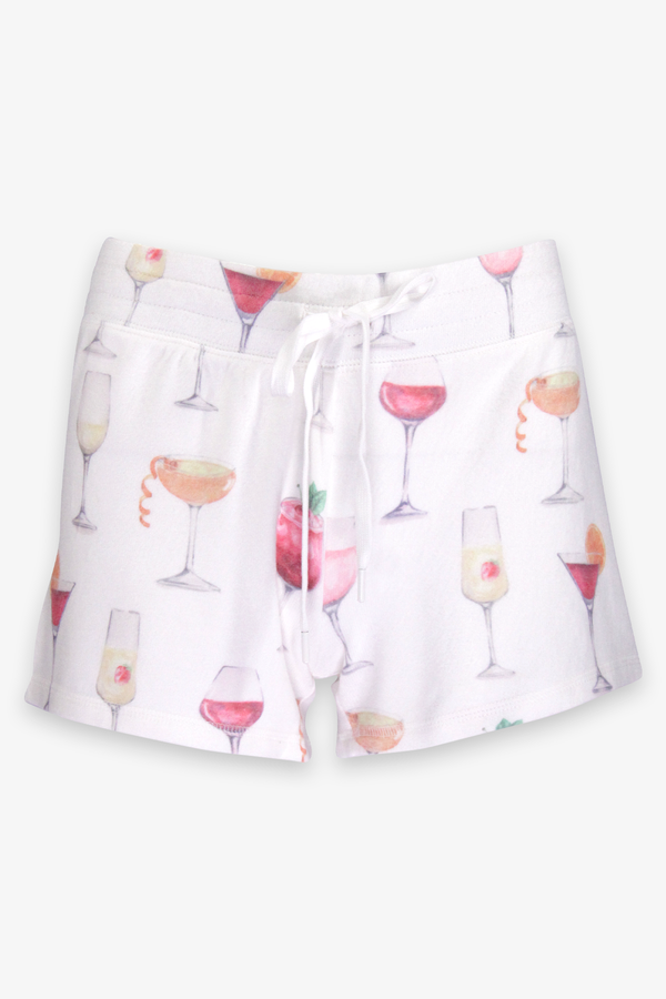 Sunset Spritzers Pajama Short in Ivory