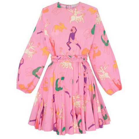 Ella Dress Pink Multifigure
