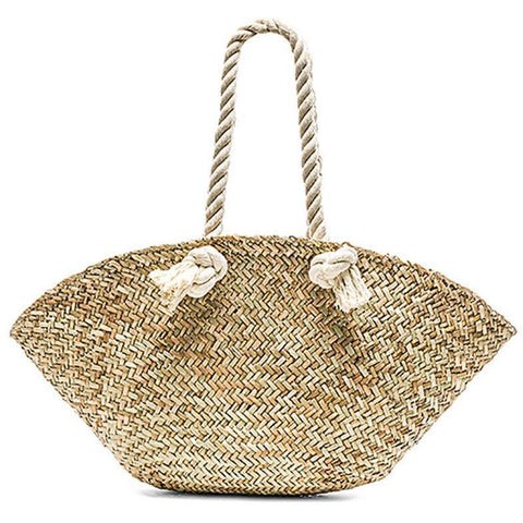 Rope Handle Basket Bag