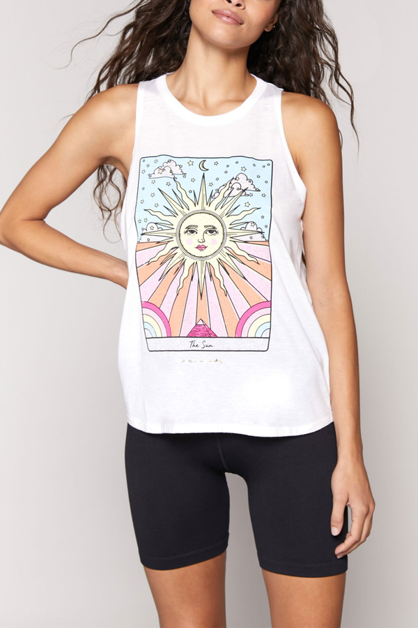 Sun Movement Open Back Tank Top in Cream
