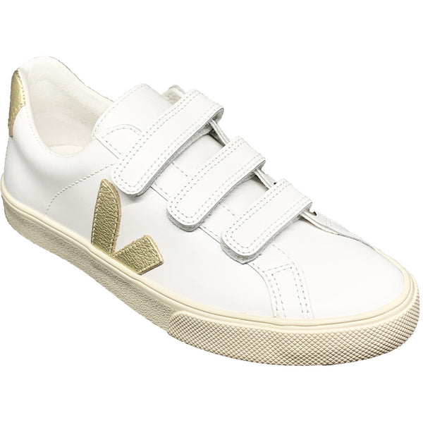 SHOES - 3-Lock Leather Extra White Gold Sneaker