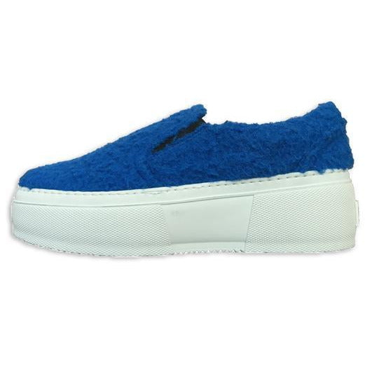 SHOES - Blue Texture Slip On