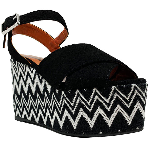 SHOES - Engie Wedge Sandal Black