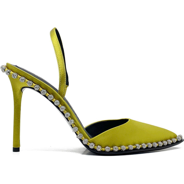 SHOES - Rina Crystal Sandal Chartreuse