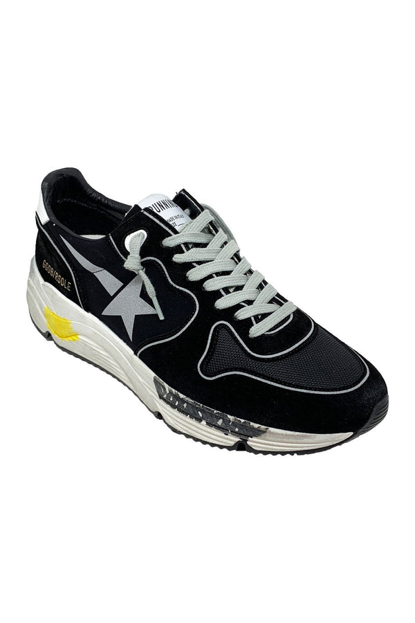 SHOES - Running Black Lycra Men Sneaker