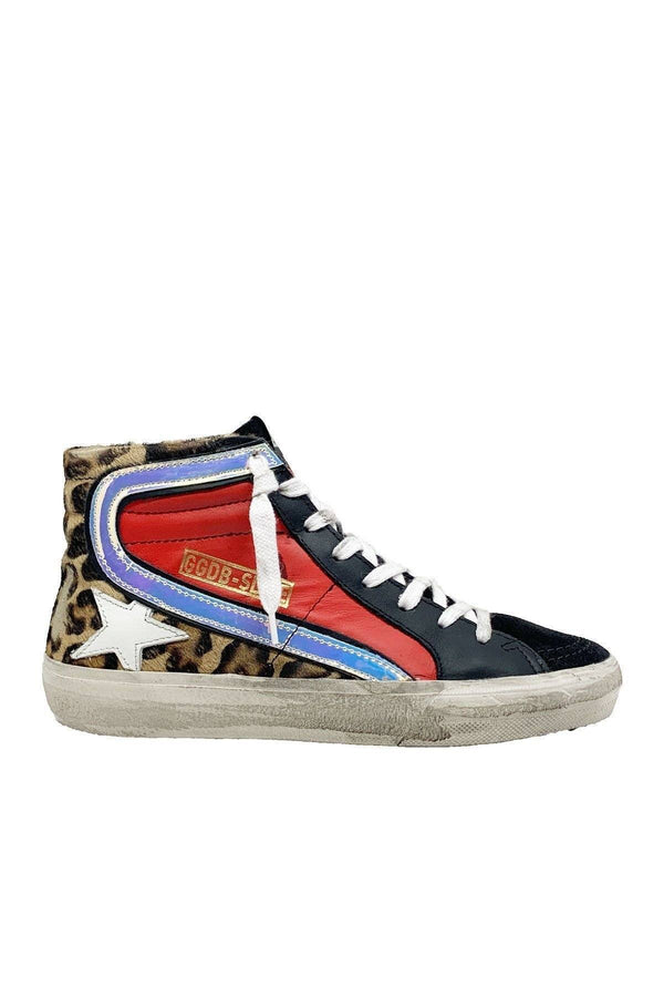 SHOES - Slide Snow Leopard Red Sneaker