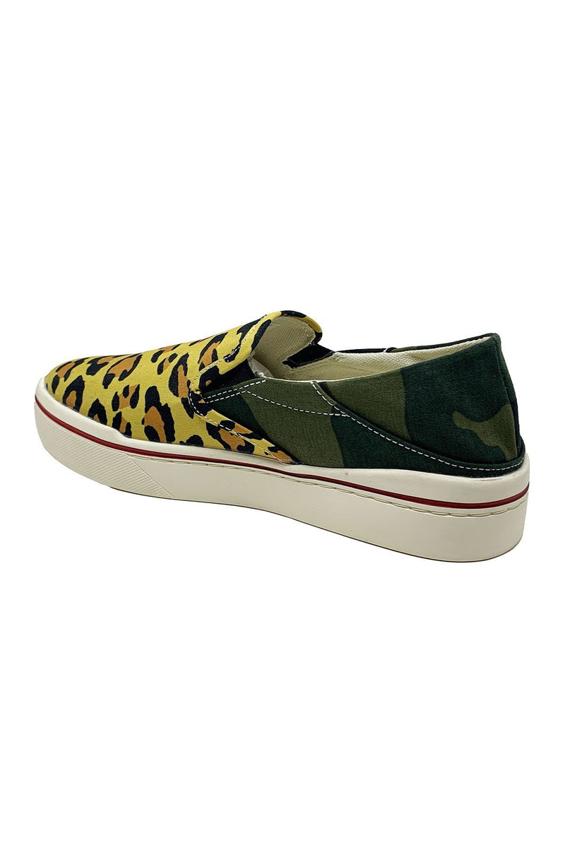 SHOES - Slip-On Sneaker Camo With Leopard