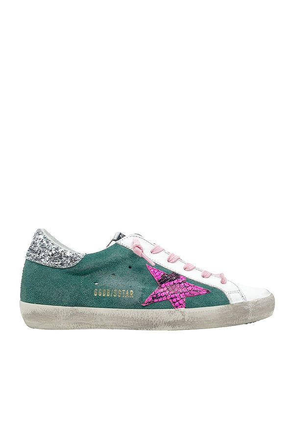 SHOES - Superstar Green Leather Sneakers