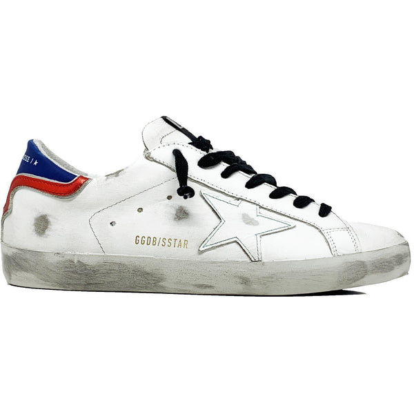 SHOES - Superstar White Blue Red Leather Men Sneaker
