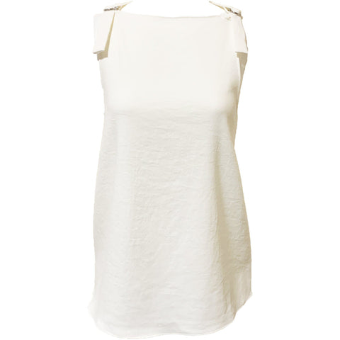 Chalky Drape Sleeveless Top Ivory