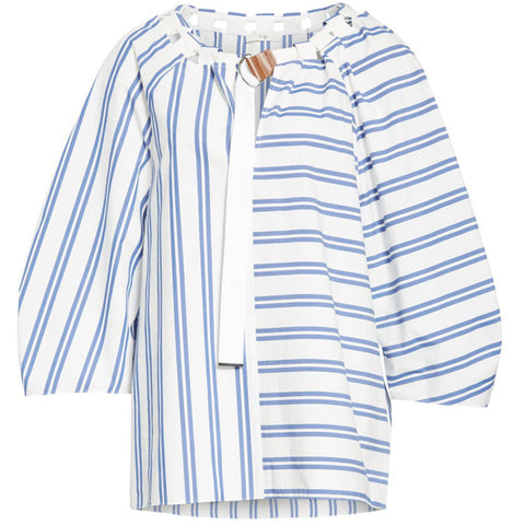 Vivian Stripe Tie Neck Top