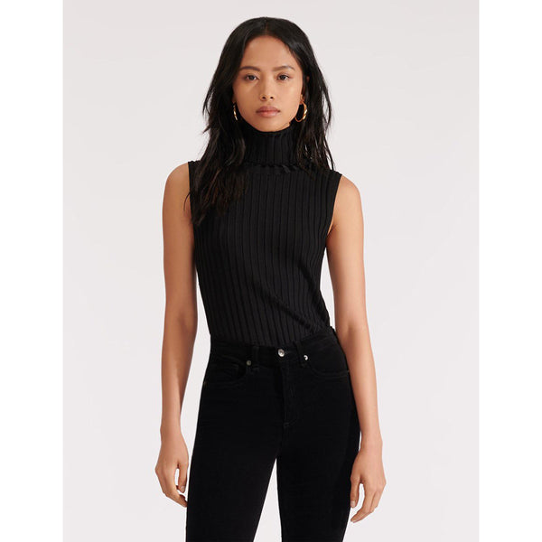 Stefania Sleeveless Turtleneck Black
