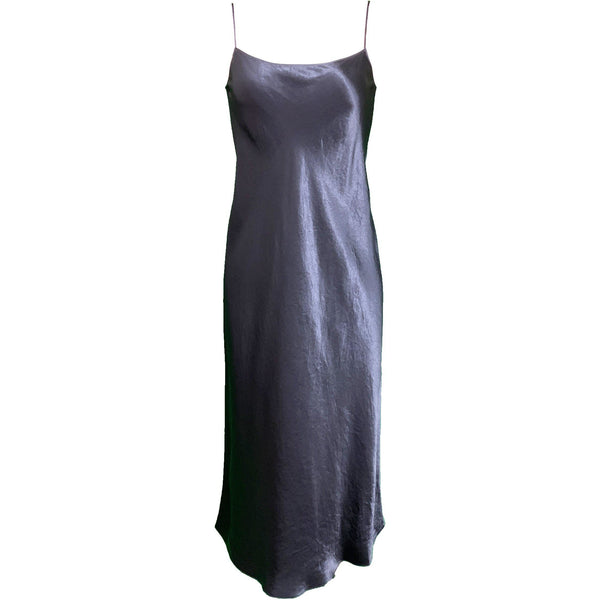 Satin Slip Dress Coastal Blue