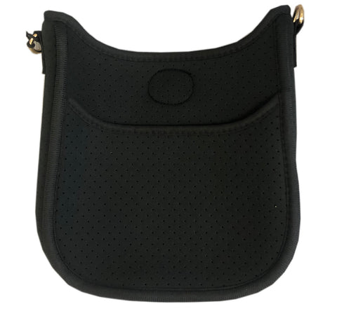 Black mini neoprene crossbody- straps sold separately