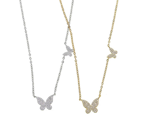 Butterfly necklace(ships 4-30)- avail in gold and silver