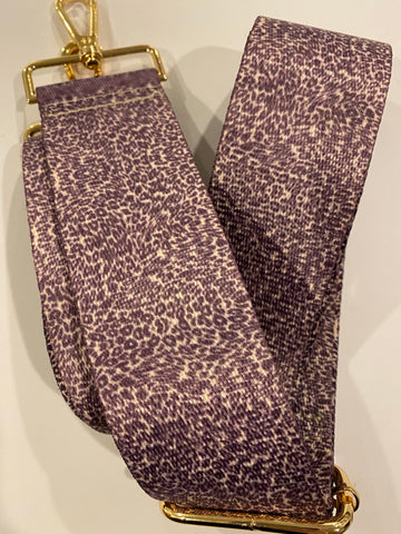 Pink and purple leopard strap - gold hardware