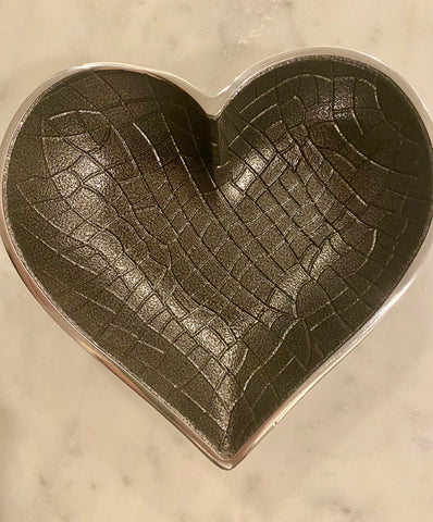 Silver croco heart with spoon