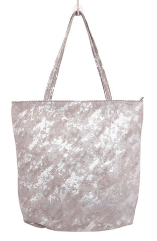 Genuine Leather Tote with zipper top