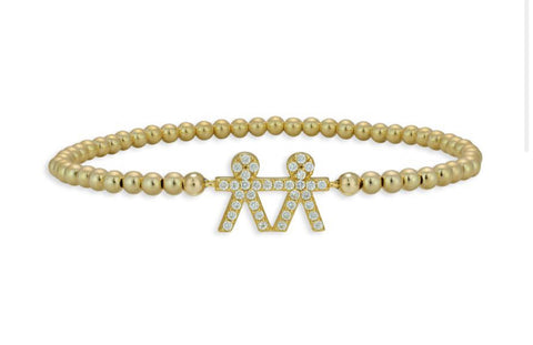 Bracelet with kids - Gold Plated