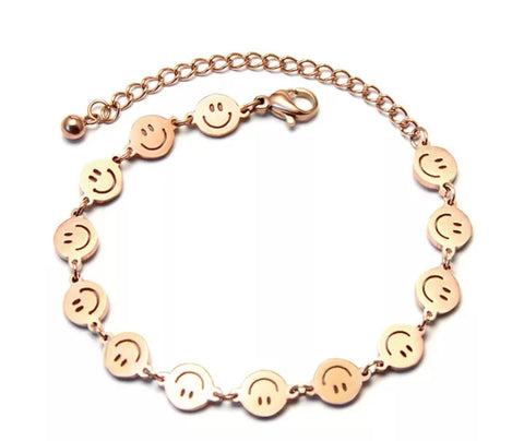 Smiley bracelet (fits 6 1/2 to 8 inch wrist)
