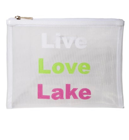 "Small Mesh Bag- ""Live Love Lake"""