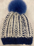 Winter Hat with Fur Pom