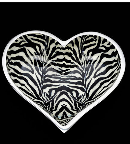 Zebra Heart bowl with spoon