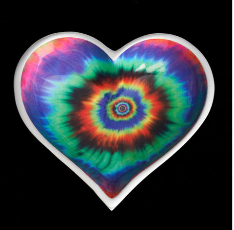 Tie Dye Heart Bowl with spoon