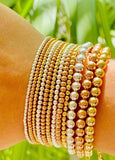 Ball bead bracelets - silver, gold and rose gold