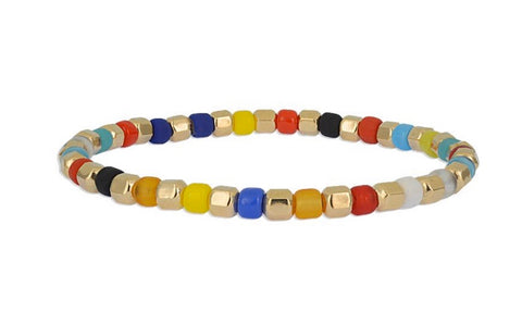 Layering Bracelet Faceted Beads