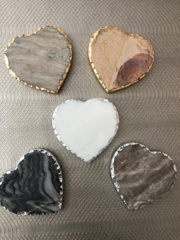 Heart Marble Coasters