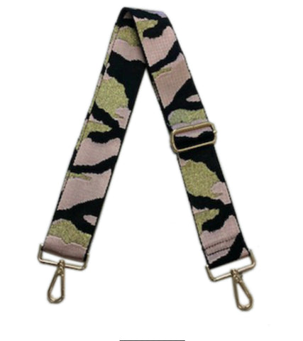 Light Pink Camo Strap - Gold Hardware