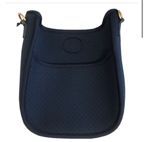 Mini neoprene crossbody navy - strap sold separately