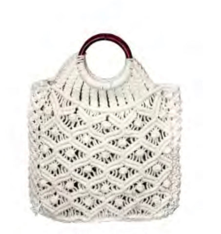 Handheld Cotton Macrame Bag