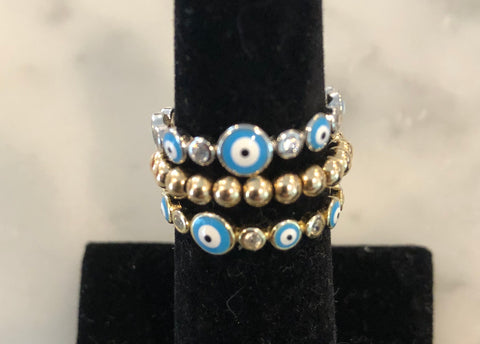 Evil eye ring - blue eye