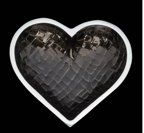 Croco black with Heart Spoon
