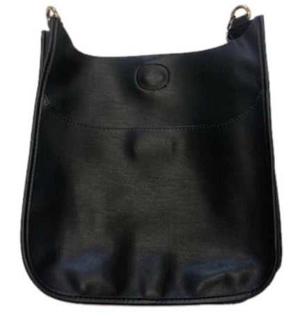 Black vegan crossbody- strap sold separately