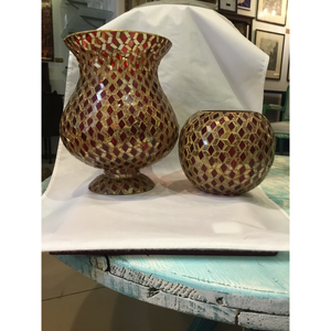 Red Vase (set of 2)