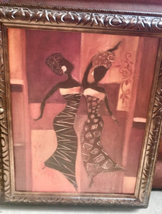 Dancing Ladies Framed Artwork - br