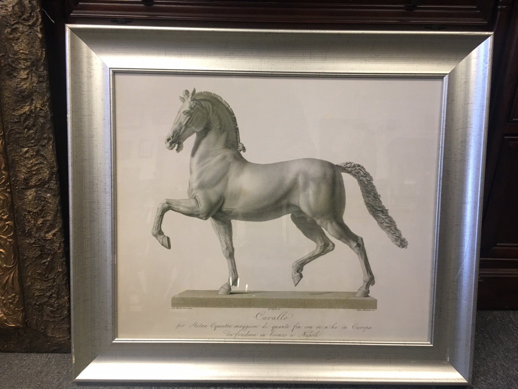 "Framed ""Cavallo"" Reproduction"