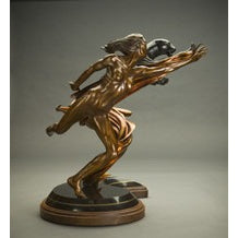 """Voice of the Whirlwind"" Limited Edition Bronze Sculpture by D'Vorah Curtis"