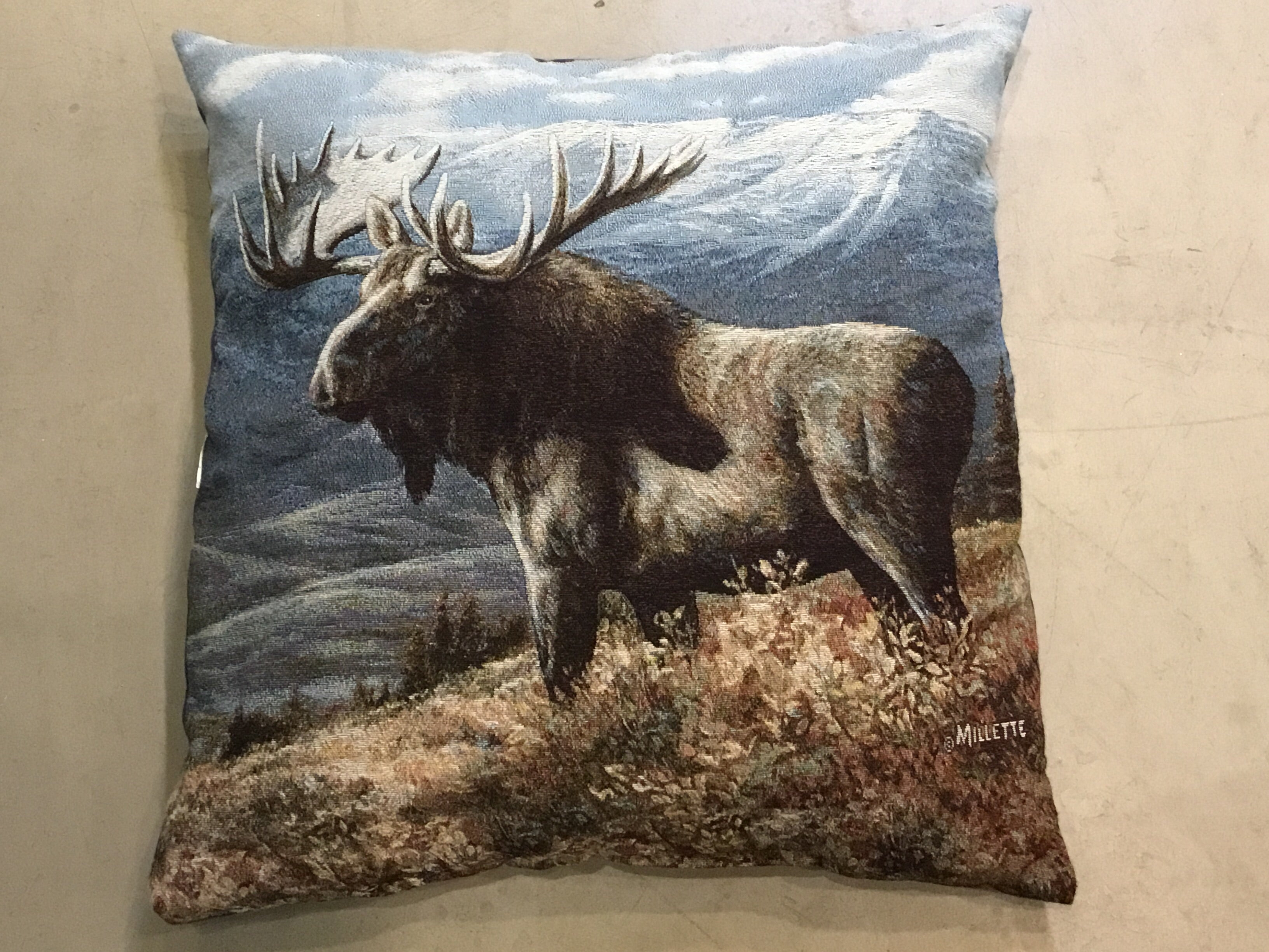 Moose Pillow by Rosemary Millette