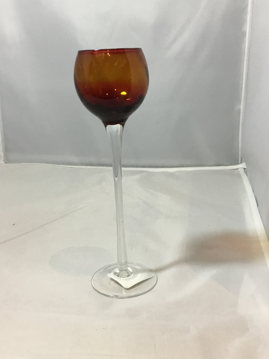 Burnished Orange Cordial Glass