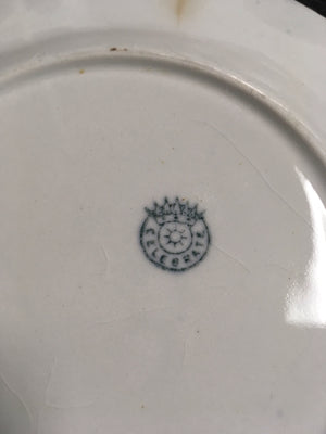 Decorative Blue Trimmed Plate