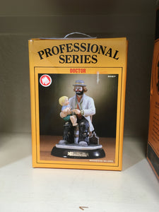 "Flambro Emmet Kelly Jr Collection Mint in Box Figurine The Professional Series with wood base ""The Doctor"""
