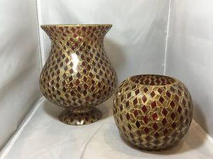 Stained Glass Vases, Set of 2 - R