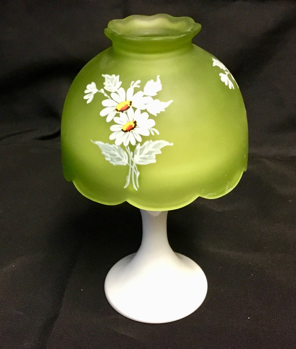 Vintage Westmoreland Glass fairy lamp