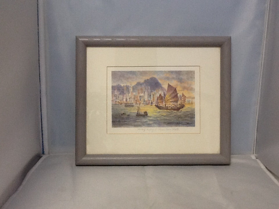 Framed reproduction of Hong Kong