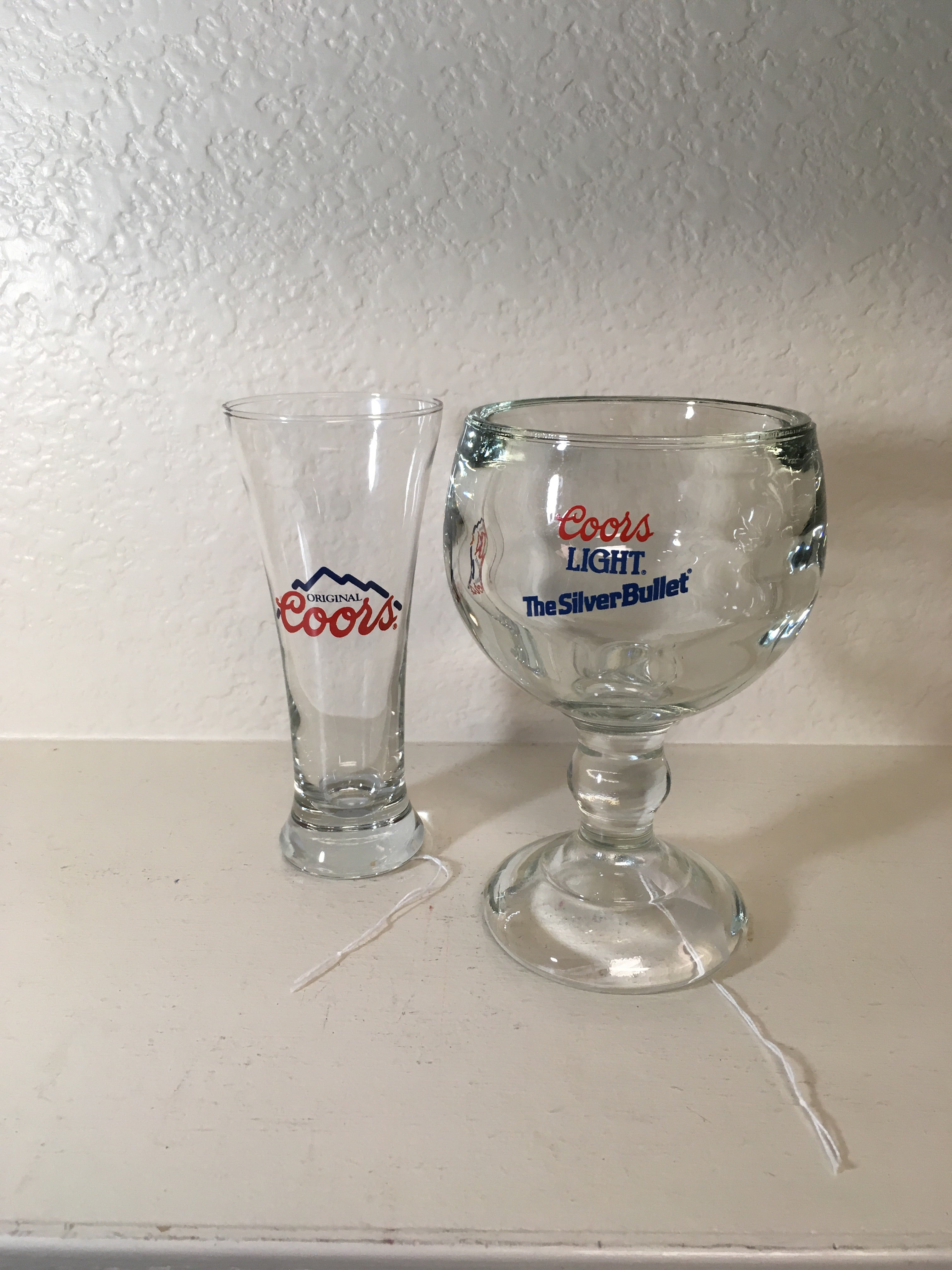 Coors Light Margarita glass and Coors Pilsner Glass
